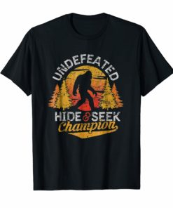 Bigfoot T-shirt Undefeated Hide & Seek Sasquatch Yeti Gift