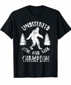Bigfoot Undefeated Hide And Seek Champion T Shirt