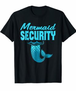 Cool And Awesome Merman Mermaid Security beach shirt