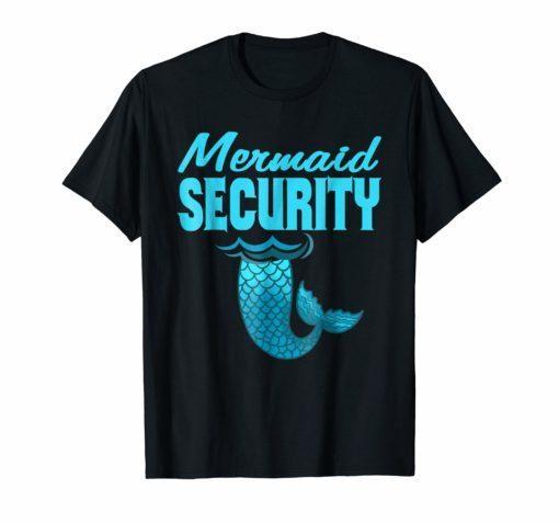 Cool And Awesome Merman Mermaid Security beach shirt