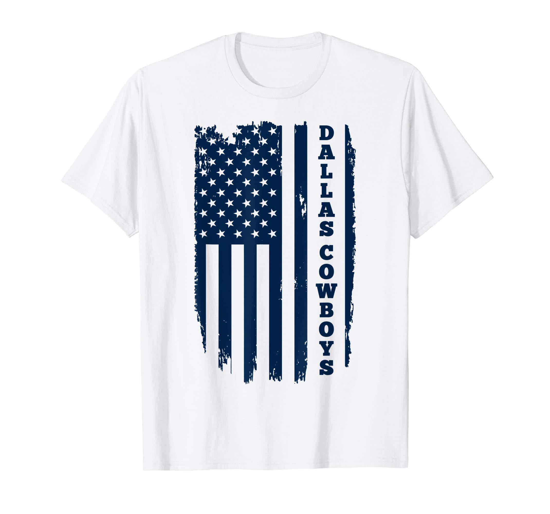 Cowboys football Dallas Fans USA Flag T