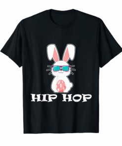 Cute Hip Hop Bunny Easter T Shirt Eggs Gift Kid Toddler Girl