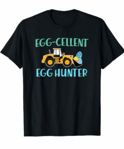 Easter shirt for Boys Egg-cellent Egg Hunter Easter Tractor