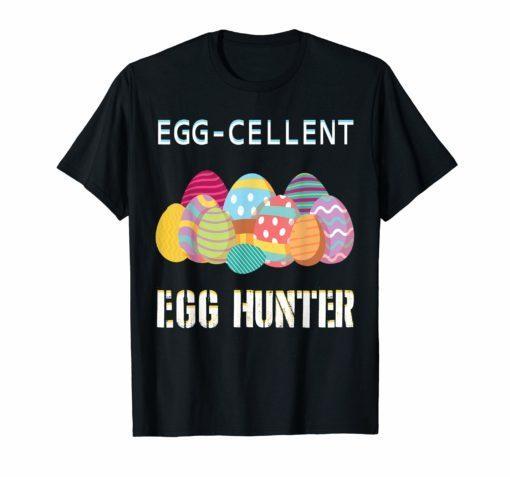 Egg-cellent Egg Hunter Easter-T-Shirt For Boys Girls Kids