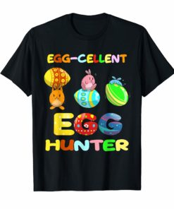 Egg-cellent Hunter Funny Easter Shirt Easter Egg Bunny Shirt