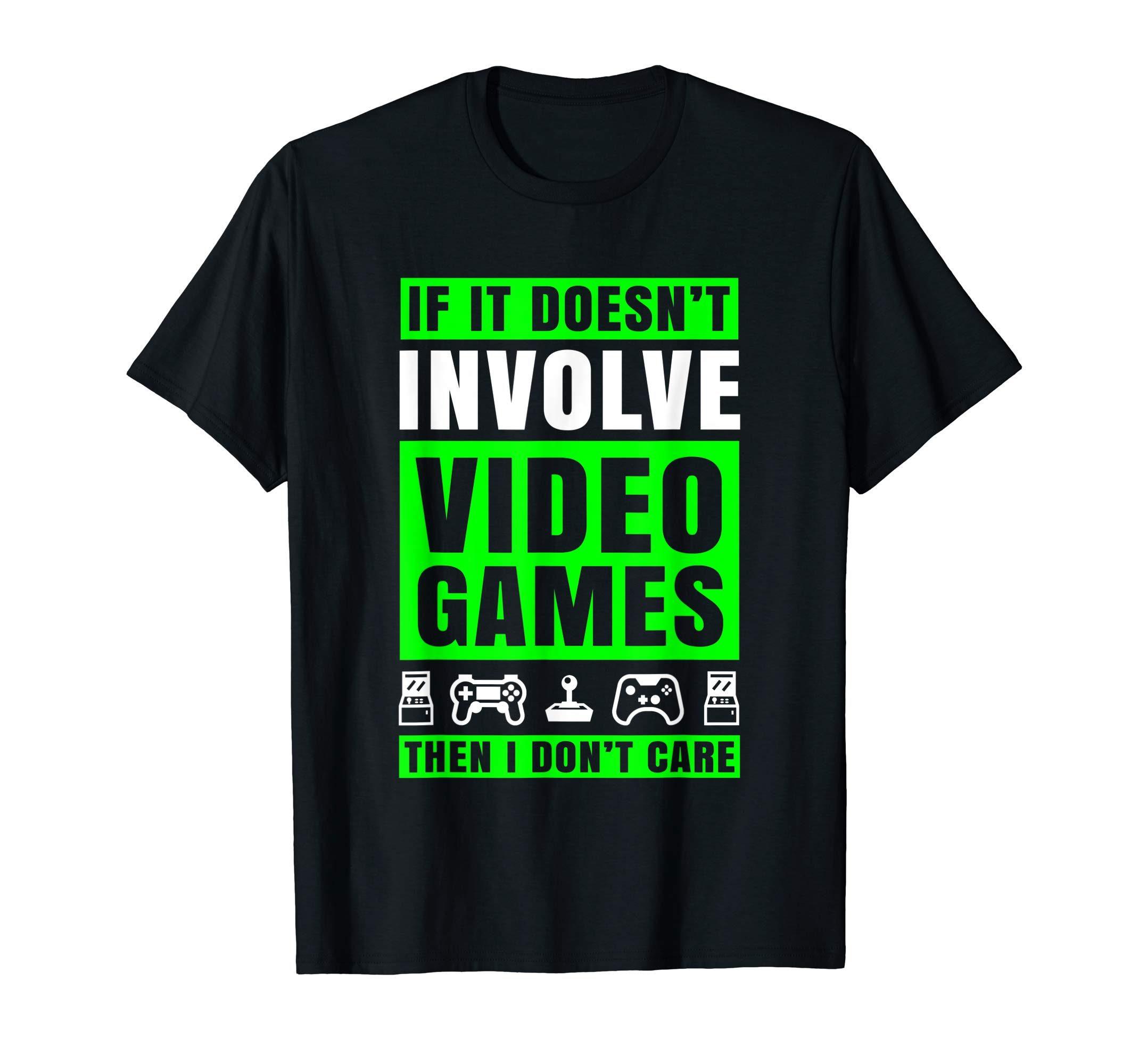 Funny Video Game T Shirt Men Boys Kids Games Gamer Gifts