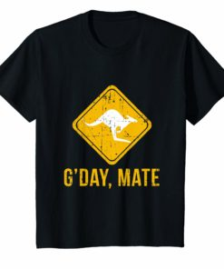 G'Day Mate T-Shirt Funny Kangaroo Tee For Holiday Down Under