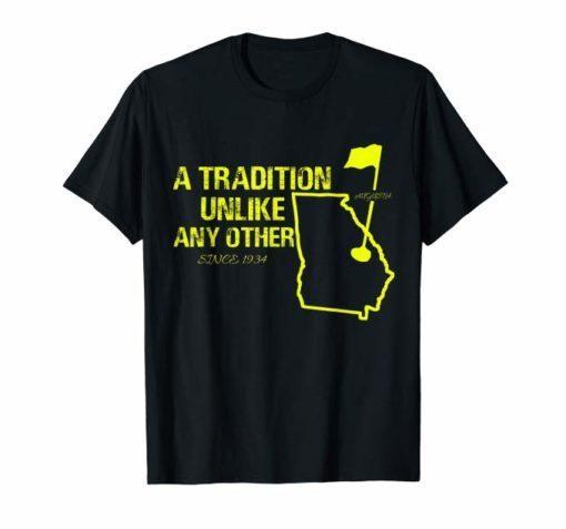 Golf in April Augusta Georgia Master Distressed Shirt