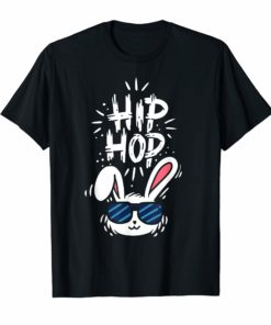 Happy Easter Day T-Shirt Hip Hop Bunny Cute Tshirt Gift