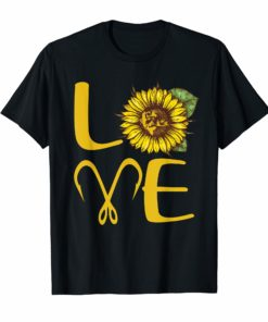 I love fishing and sunflower T-Shirt Gift