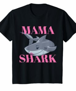 Mama Shark Tshirt Cute Gift for Moms