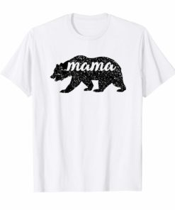 Men's Women's T Shirt Black Matte Mama Bear Mather's Day