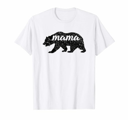 Men's Women's T Shirt Black Matte Mama Bear Mather's Day