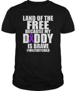 Military Child Month Purple Up Free Brave Dad Pride Shirt