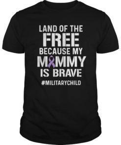 Military Child Month Purple Up Free Brave Mom Pride T-Shirt