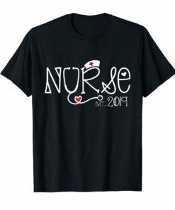 New Nurse Est 2019 T Shirt