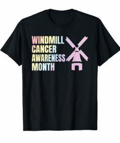 Trump Windmill Cancer Awareness Month T-Shirt