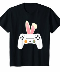 Video Gamer Egg Controller bunny Easter Day Shirt Boys Kids