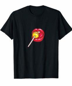 Woman Licking Lollipop Shirt