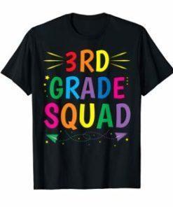 3rd Grade Squad T-shirt Third Grade Teacher Student Gift