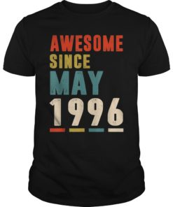 Awesome Since May 1996 T-Shirt 23rd Gifts Tee