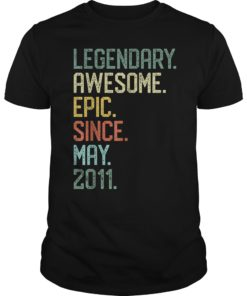 Legendary Awesome Epic Since May 2011 8 Years Old T-Shirt