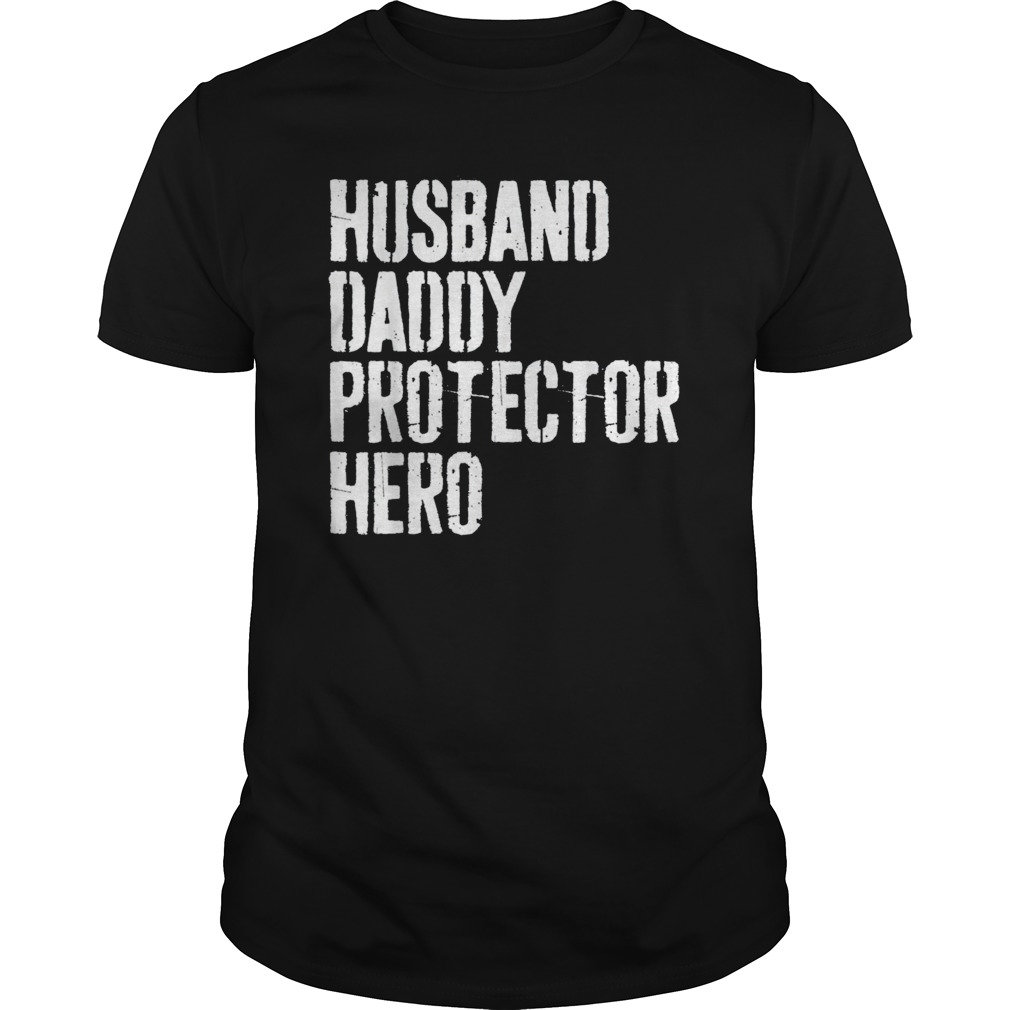 82a767d2 Mens Husband Daddy Protector Hero T-Shirt Father's Day Gift Shirt T-Shirt