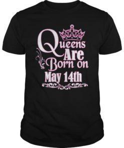 Queens Are Born On May 14th Gemini Taurus Womens Birthday T-Shirt