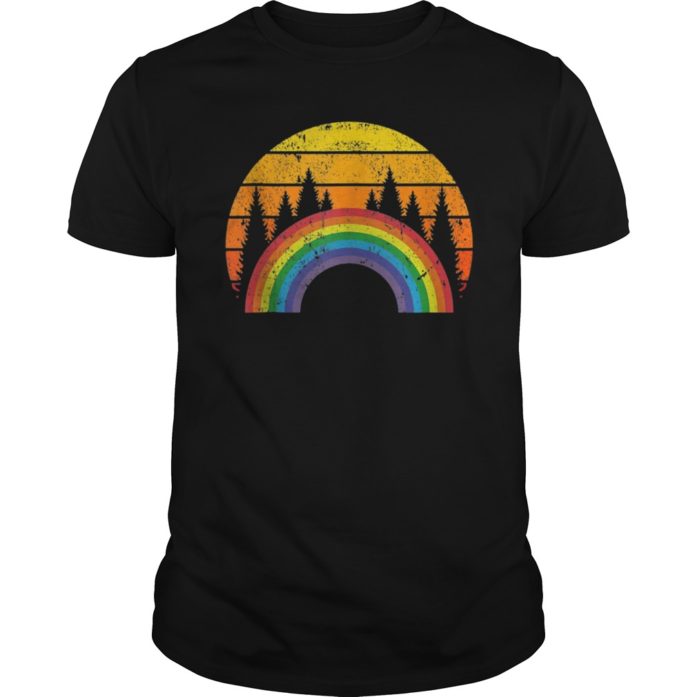 a987cbb7 Rainbow Shirt Vintage Retro 80's Style Gay LGBT Pride Flag T-Shirt ...