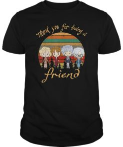 Thank You For-Being A Golden Friend Girls Vintage T-Shirt
