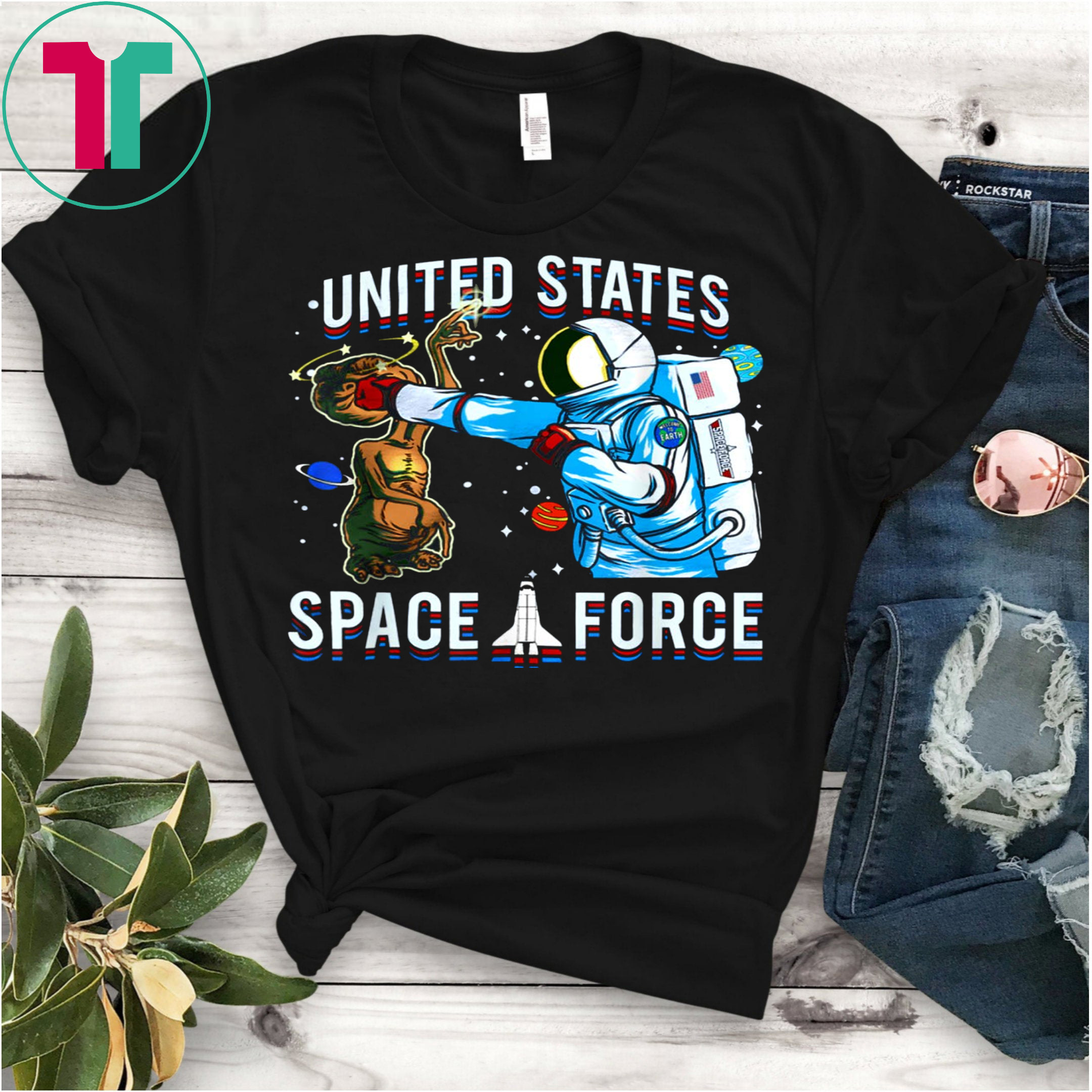 9968e77ec United States Space Force Alien T-shirt - Reviewshirts Office
