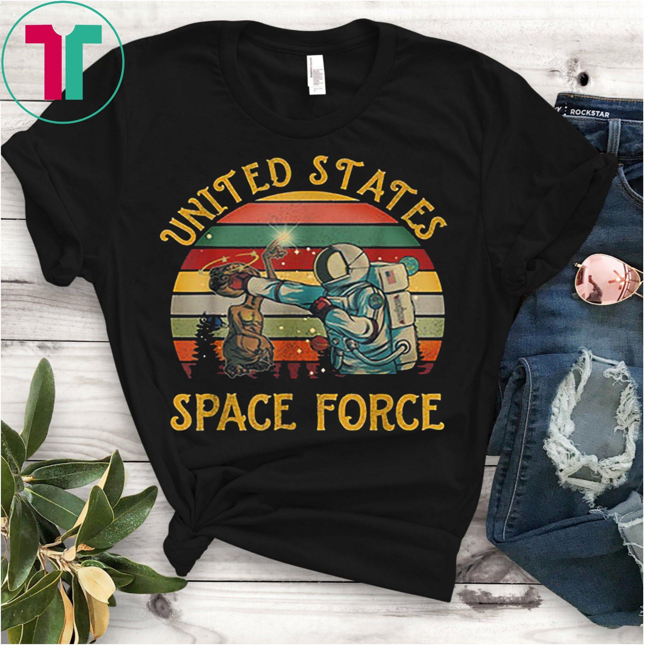 United States Space Force Punch Retro Vintage Sunset Shirts