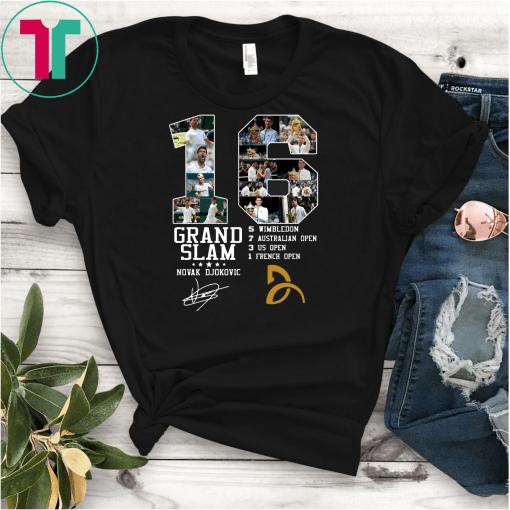 16 Grand Slam Novak Djokovic Signature Shirt