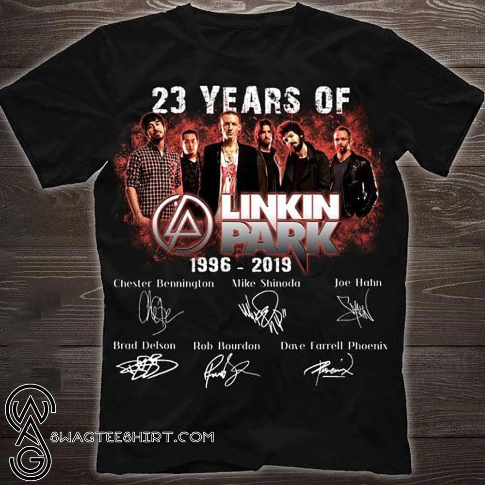 23 years of linkin park 1996 2019 signatures shirt