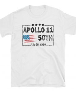 50th Anniversary Apollo 11 Moon Landing 1969 Unisex TShirt Apollo 11 Vintage Shirt Man On Moon 50 Years gift Apollo 11 50th Anniversary