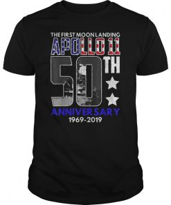 50th Anniversary Moon Landing Apollo 11 1969 - 2019 T-Shirt