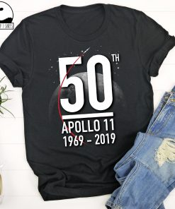 50th Anniversary Moon Landing Fathers Day T Shirt 1969 2019 Apollo 11 Historical Lunar Mission Astronomy Science Gift First Man on The Moon