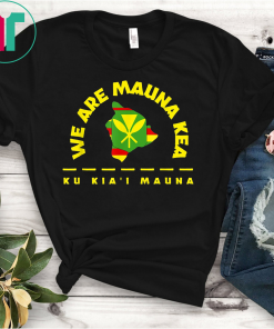 Big Island Kanaka Maoli Flag WE ARE MAUNA KEA T-Shirt