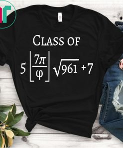 Class of 2022 Funny Math Pi Freshman Graduation Gift Shirt