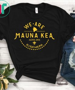 Kanaka Maoli Flag - We Are Mauna Kea T-Shirt