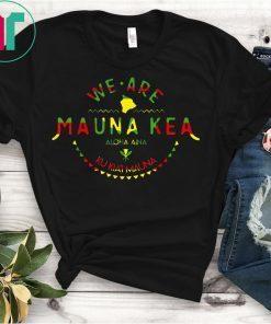 Kanaka Maoli Flag We Are Mauna Kea Tee Shirt