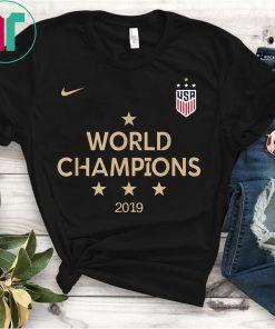 2019 Women's World Cup Champions USA Soccer T-Shirt