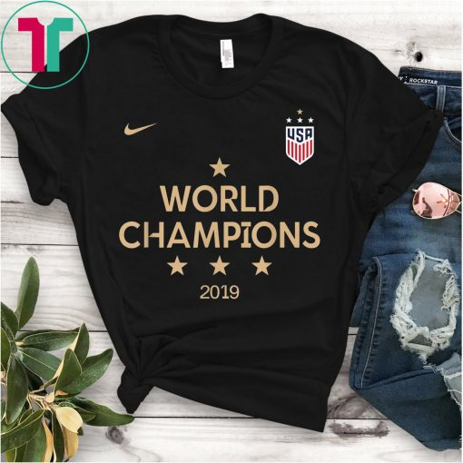 2019 Women's World Cup Champions USA Soccer T-Shirt