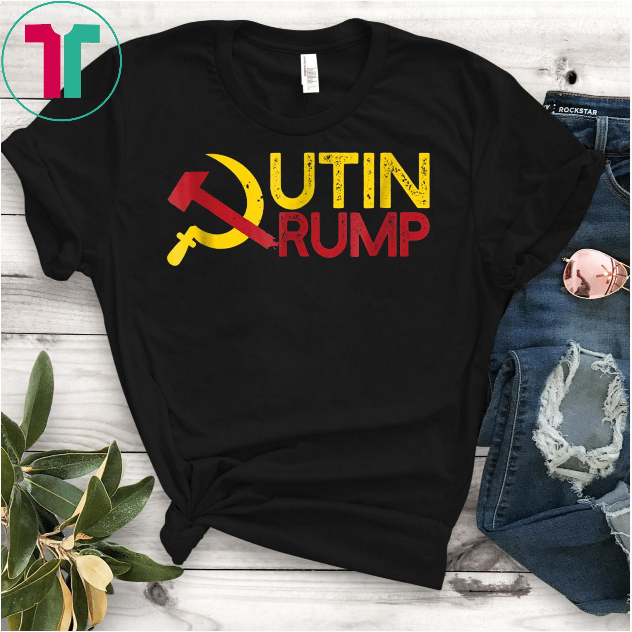 PUTIN TRUMP 2020 Campaign Logo T-Shirt Funny Meme USSR ...