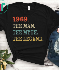 Retro The Myth The Legend 1969 50th Birthday Gift 50 yrs old GiftT-Shirt