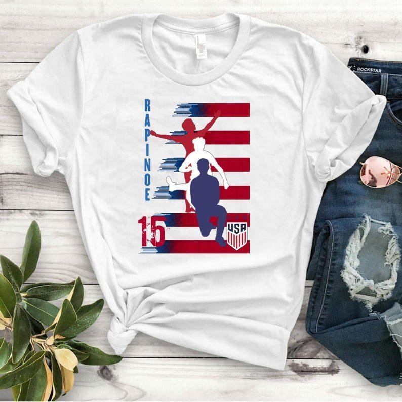 new style e537b b0a57 United States Women's National Soccer Team Shirt Alex Morgan, Julie Ertz,  Tobin Heath, Megan Rapinoe, Mallory Pugh Shirts