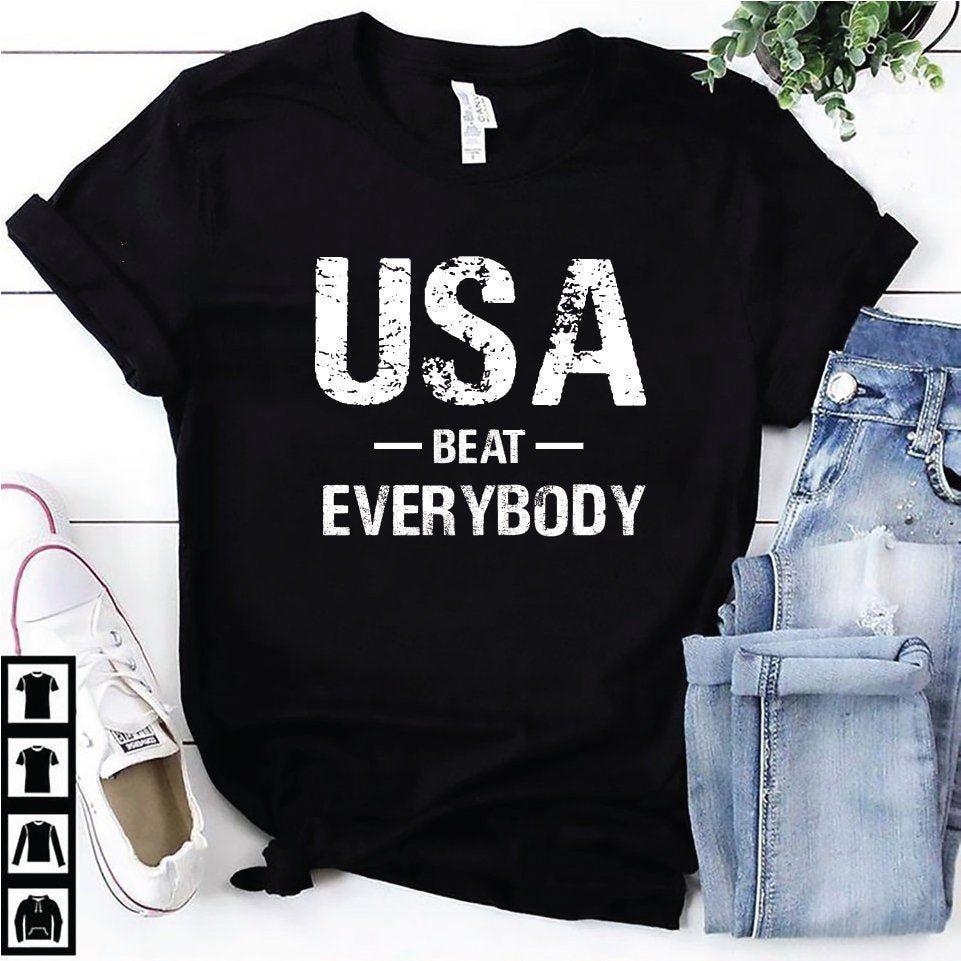 best website e10c5 9013d Usa beat everybody t shirt, Usa vs Everybody shirt, World cup champion  shirt, uswnt shirt, United States Women's National Soccer Team Shirts