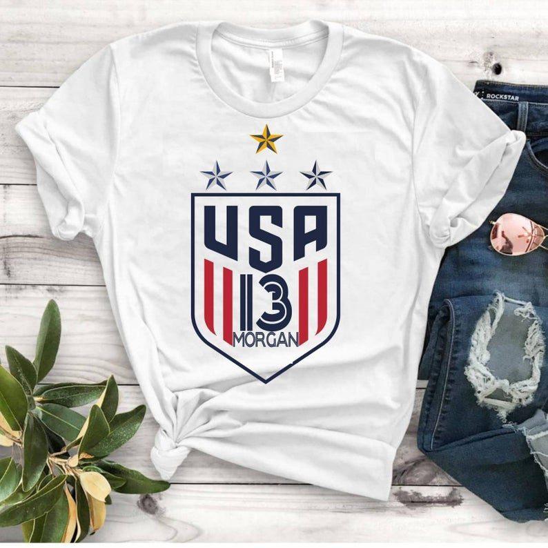 finest selection b1689 e411a Women's National Soccer Team Shirt USWNT Alex Morgan, Julie Ertz, Tobin  Heath, Megan Rapinoe Gift T-Shirts