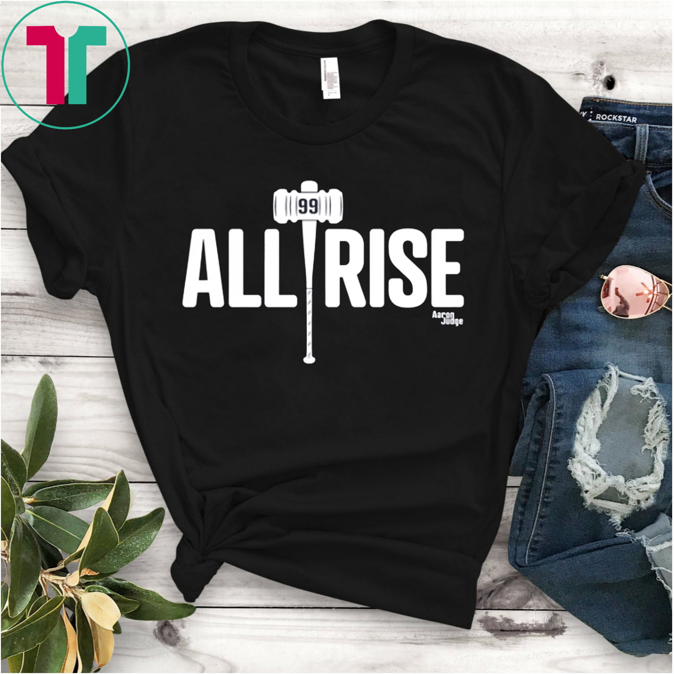 reputable site aa2e2 9af9a All Rise T-Shirt All Rise For 100 Home Runs T-Shirt Aaron Judge - New York  Yankees