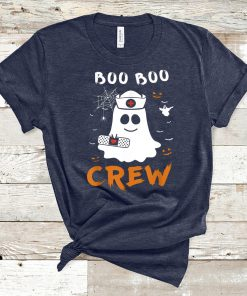 Boo Boo Crew Nurse Ghost Funny Halloween T-shirt